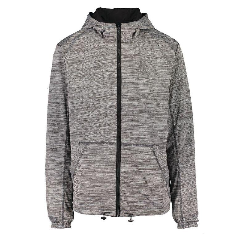 Active Intent Men's Reversible Marle Jacket, Black, hi-res