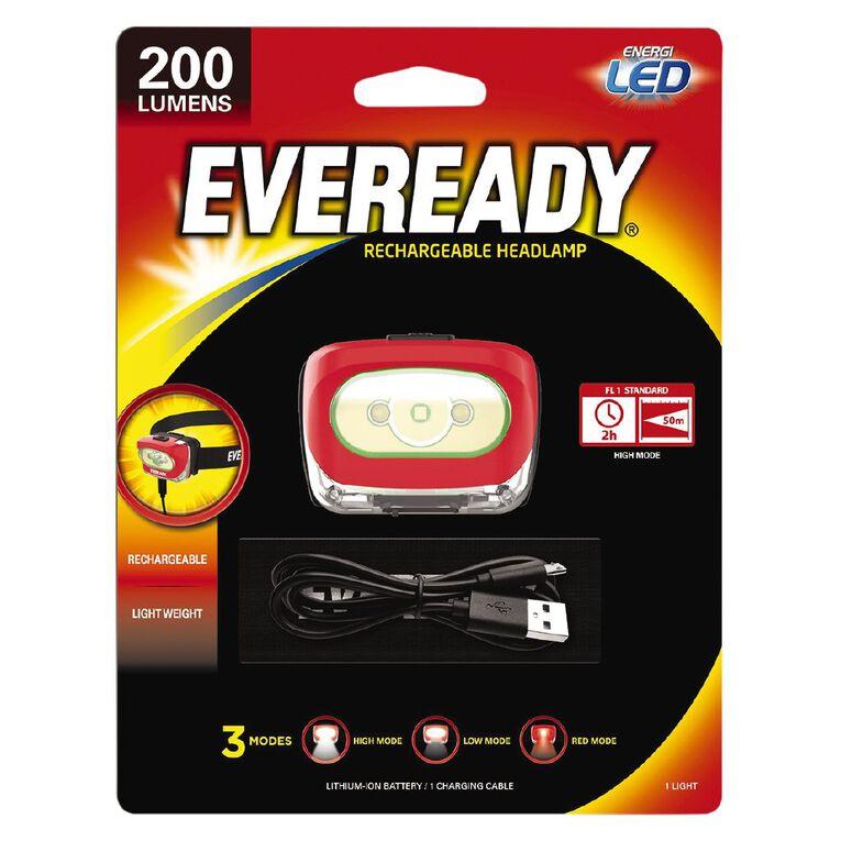 Eveready Recharge Headlight 200 Lumens, , hi-res