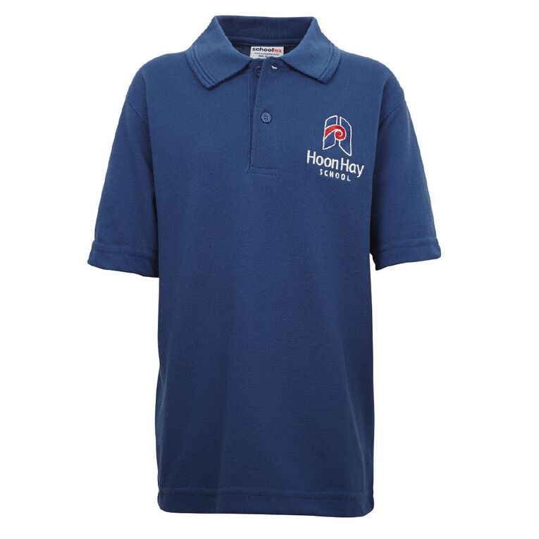 Schooltex Hoon Hay Short Sleeve Polo with Embroidery, Royal, hi-res