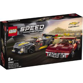 LEGO Speed Champions Chevrolet Corvette C8.R Race Car & 1968 76903