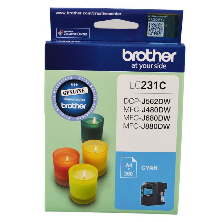 Brother Ink LC231 Cyan (260 Pages), , hi-res