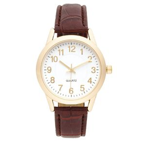 Eternity Men Classic Analogue Watch Brown Gold