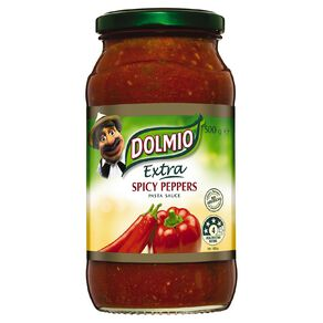 Dolmio Extra Pasta Sauce Spicy Peppers Jar 500g