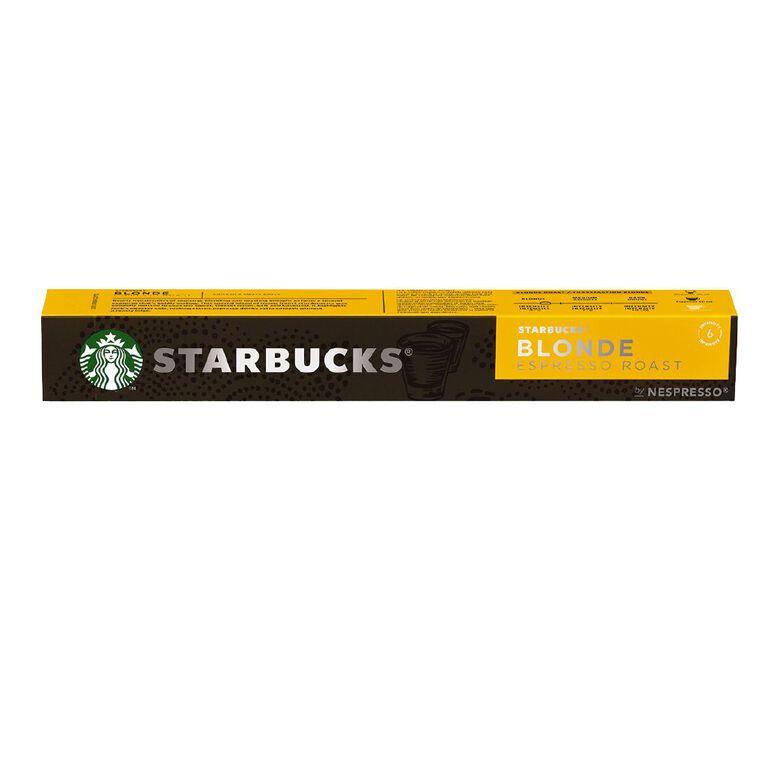 Starbucks by Nespresso Coffee Capsule Blonde Espresso Roast 10x53g, , hi-res
