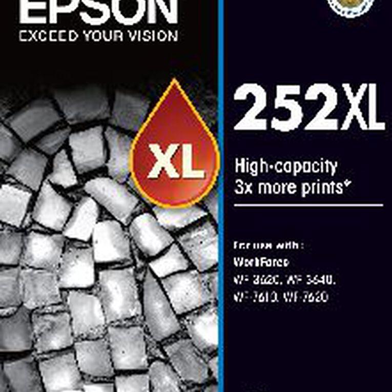 Epson Ink 252XL Black (1100 Pages), , hi-res