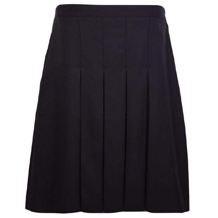 Schooltex Short Pleated Skirt, Dark Navy, hi-res