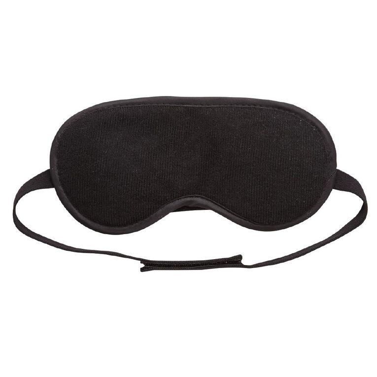 Intrepid Fleece Eye Mask, Black, hi-res