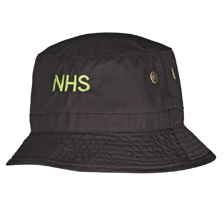Schooltex Ngaruawahia Bucket Hat with Embroidery, Black, hi-res