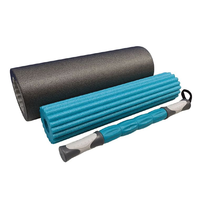 Active Intent Fitness 3-in-1 Foam Roller Black One Size, , hi-res