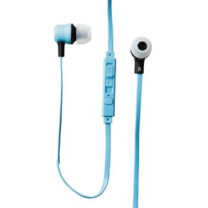 Tech.Inc In-Ear Earbuds with Mic and Volume Control Teal