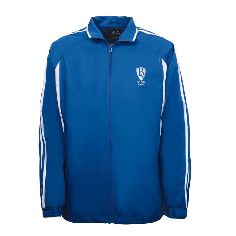 Schooltex Belfast School Year 7/8 Jacket with Embroidery and Transfer, Royal/White, hi-res