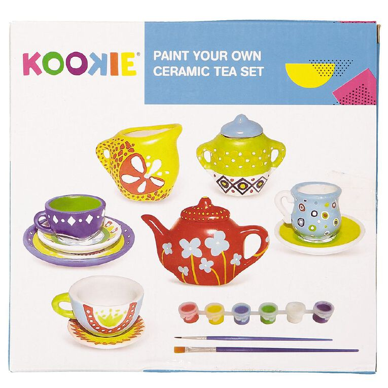 Kookie Paint Your Own Ceramic Tea Set, , hi-res