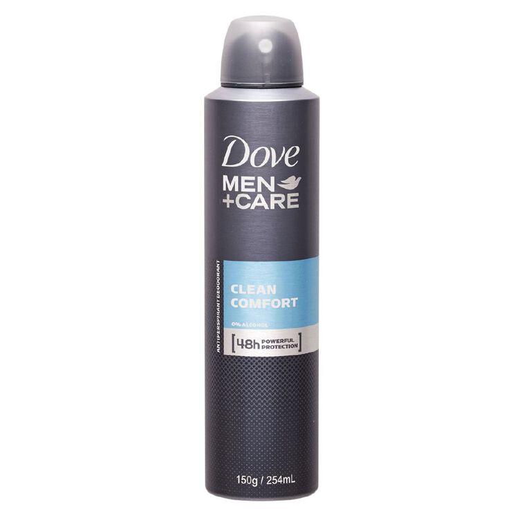 Dove Men's Antiperspirant Clean Comfort 250ml, , hi-res