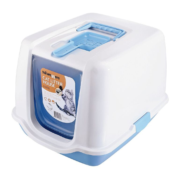 Tailwaggers Cat Litter House Blue, , hi-res
