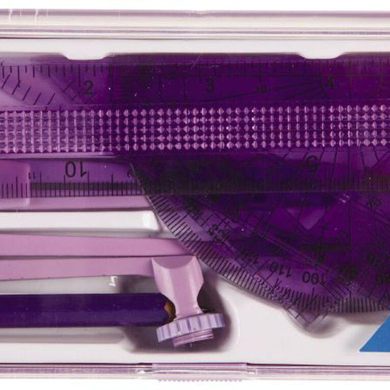 Helix Value Math Set 9 Piece Purple, , hi-res