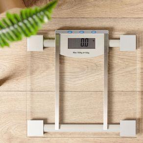 Living & Co Bathroom Scale Digital Body Fat Clear 28cm