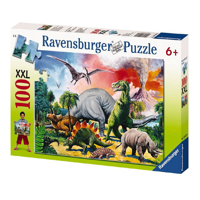 Ravensburger Among the Dinosaurs Puzzle 100 Piece, , hi-res