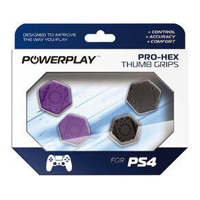 PowerPlay PS4 Pro-Hex Thumb Grips (Purple)