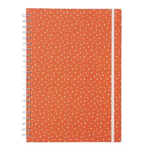 Uniti Empowerment Triangle Hardcover Notebook Red A4