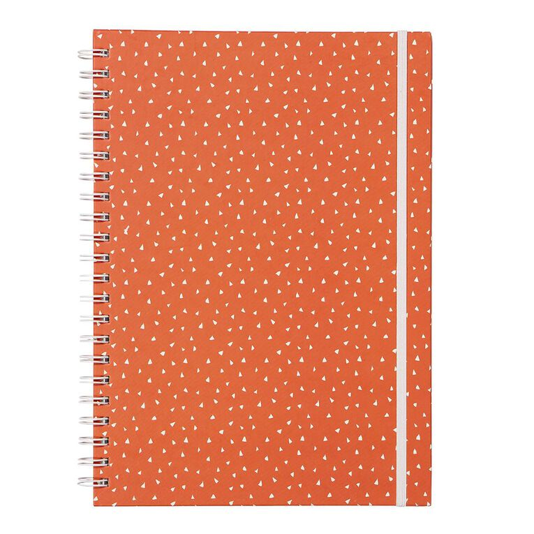 Uniti Empowerment Triangle Hardcover Notebook Red A4, , hi-res
