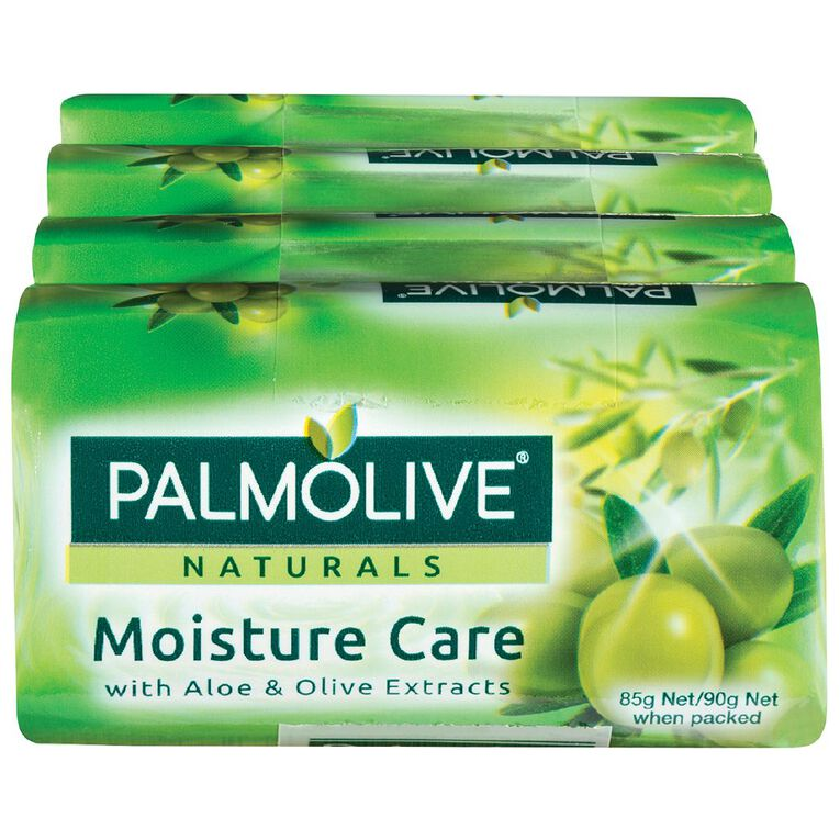 Palmolive Naturals Aloe & Olive Moisture Care 90g Soap 4 Pack Green, , hi-res