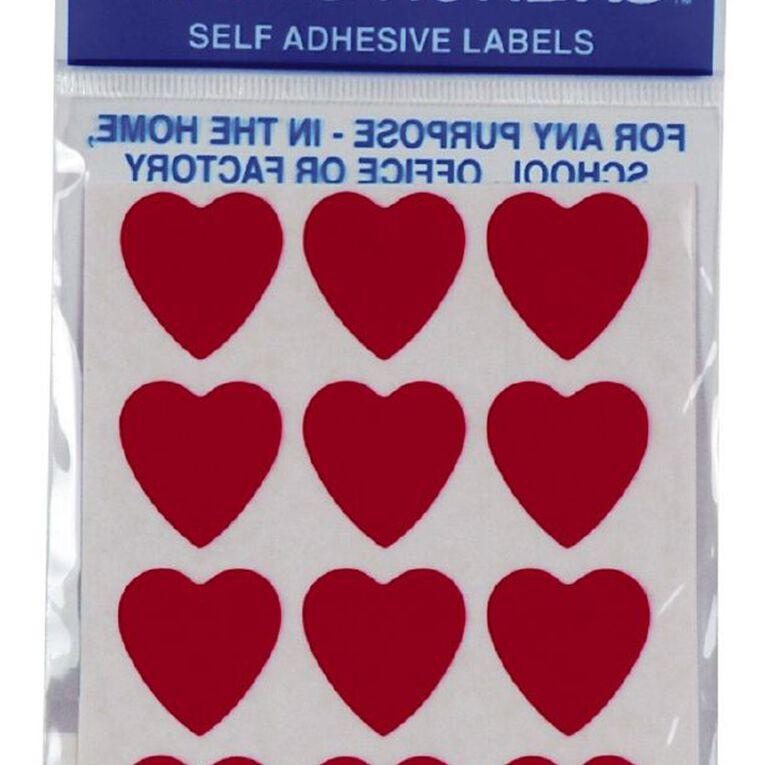Quik Stik Labels Hearts Red, , hi-res
