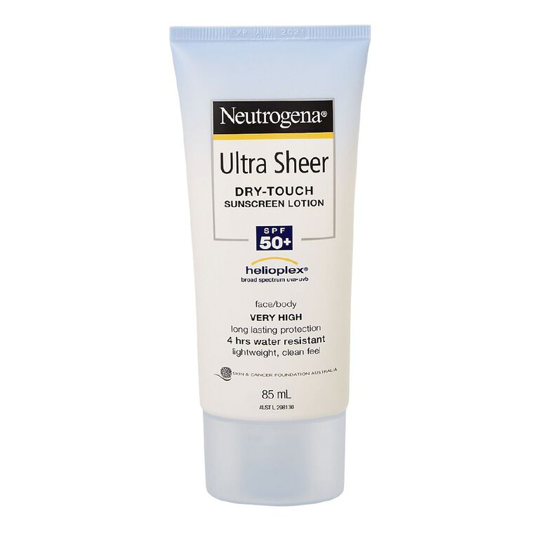 Neutrogena Ultra Sheer Body Lotion SPF50+ 85mL, , hi-res