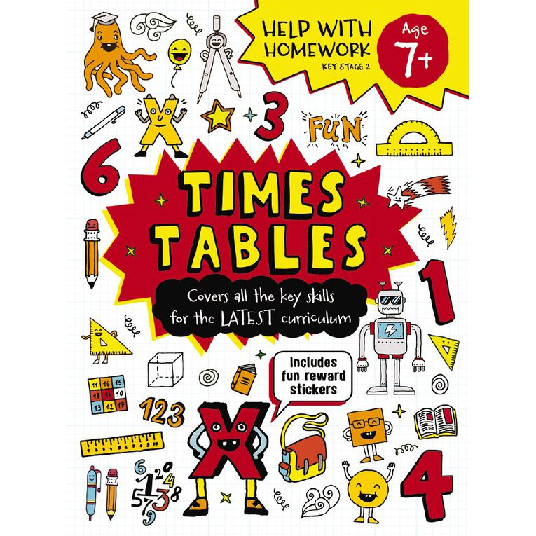 Help with Homework Expert 7+ Times Tables, , hi-res