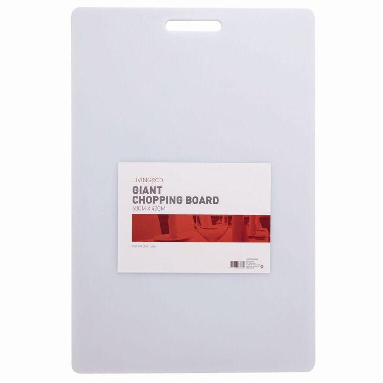 Living & Co Giant Chopping Board White 60cm x 40cm, , hi-res