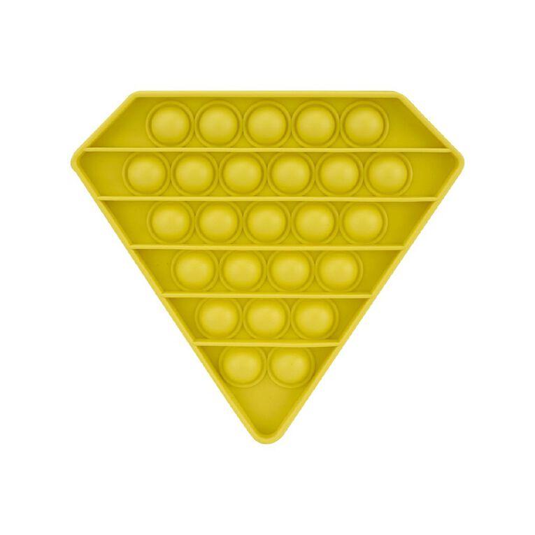 Play Studio Pop 'n Play Fidget Toy Diamond Yellow, , hi-res