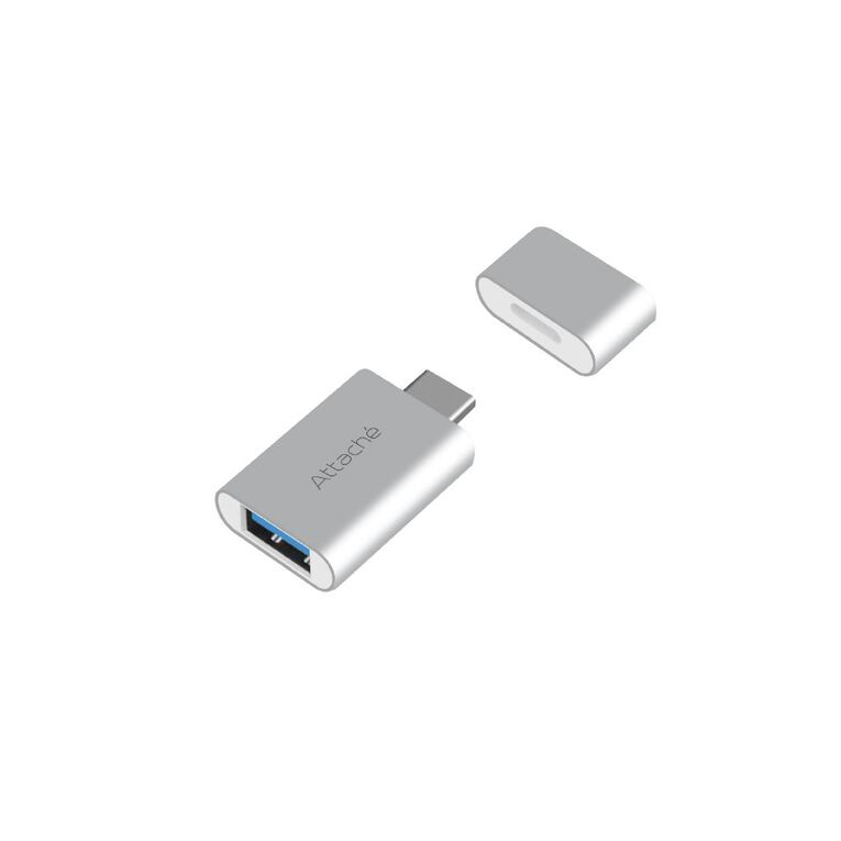 mbeat Attache USB Type-C To USB 3.1 Adapter Black, , hi-res