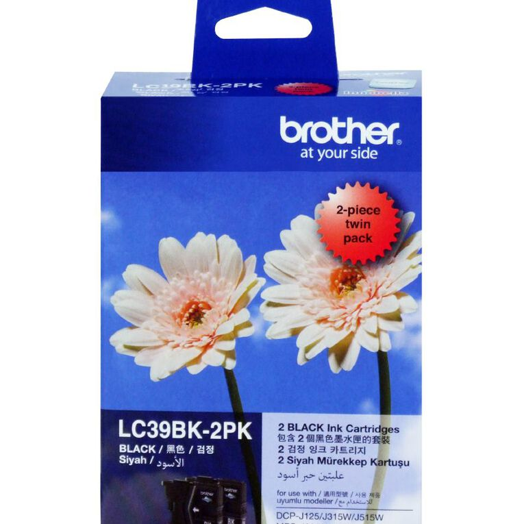 Brother Ink LC39 Black 2 Pack (300 pages), , hi-res