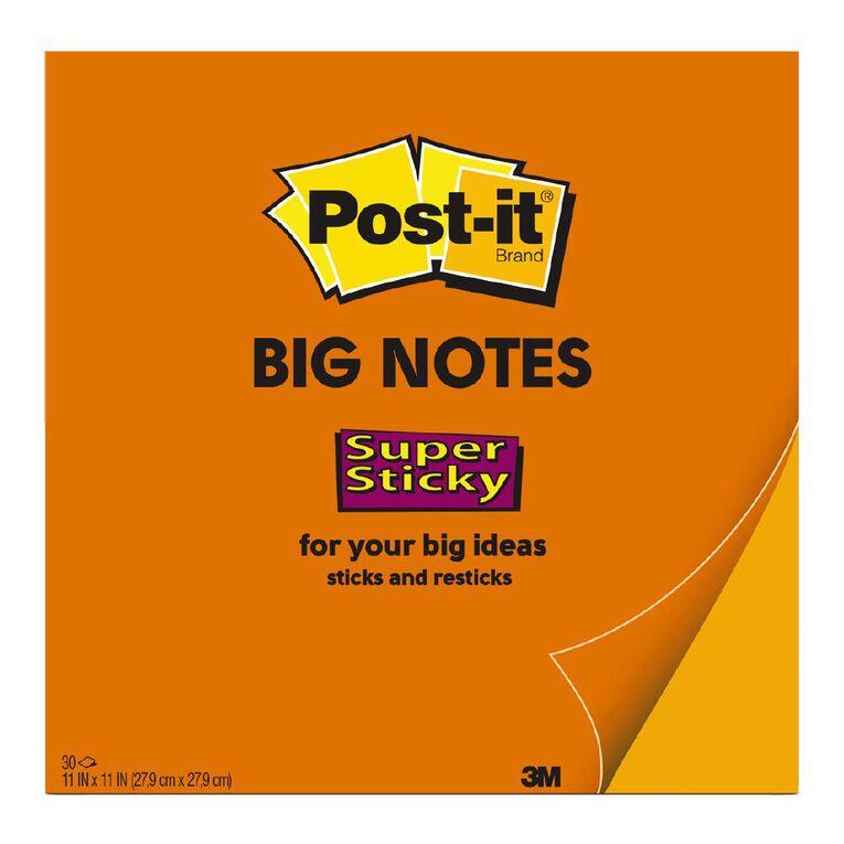 3M Post-It Note Big Orange 279mm x 279mm, , hi-res