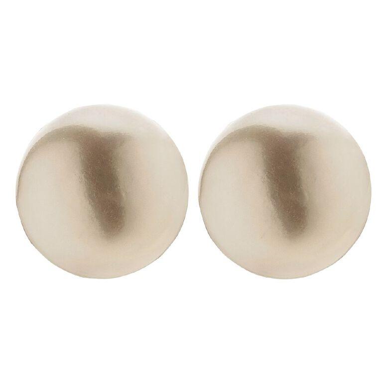 Sterling Silver White Fresh Water Pearl Stud Earrings 4-5mm, , hi-res