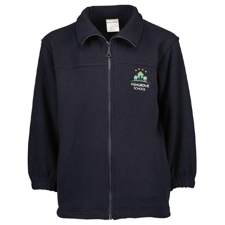 Schooltex Ashgrove Polar Fleece Jacket with Embroidery, Navy, hi-res