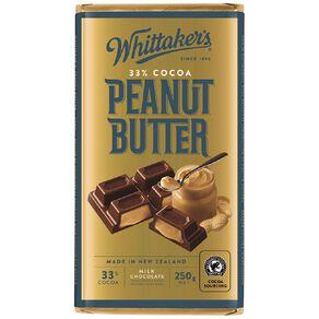 Whittaker's Peanut Butter Block 250g