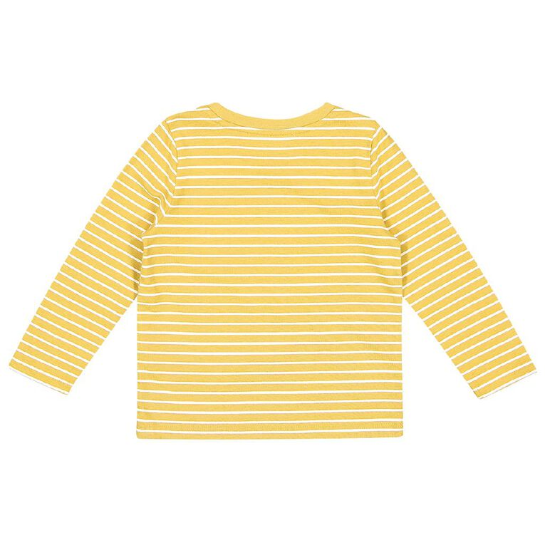 Young Original Toddler Long Sleeve All Over Print Tee, Yellow Mid, hi-res