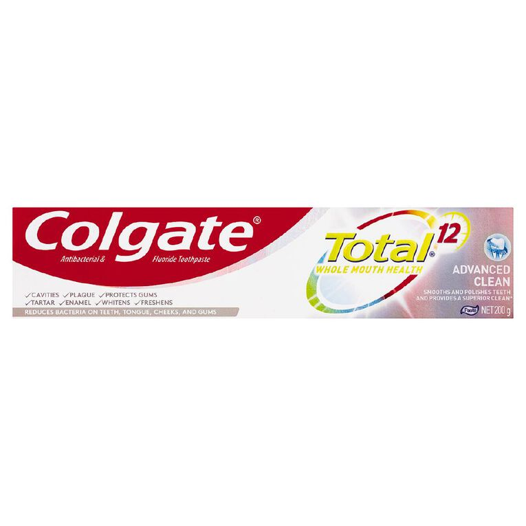 Colgate Total Toothpaste Advance Clean 200g, , hi-res