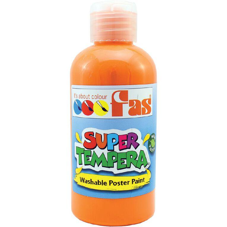 FAS Paint Super Tempera 250ml Orange, , hi-res