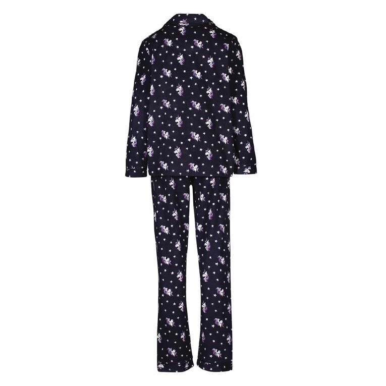 H&H Girls' Fleece Pyjamas, Navy, hi-res