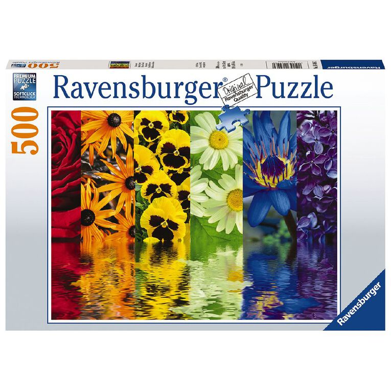 Ravensburger Floral Reflections 500 Piece Puzzle, , hi-res image number null