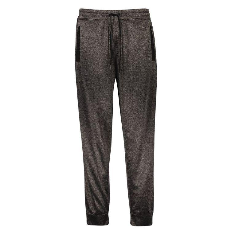 Active Intent Men's Cooldry Slim Pants, Charcoal/Marle, hi-res