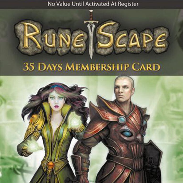 Runescape 35 Days Membership Card, , hi-res