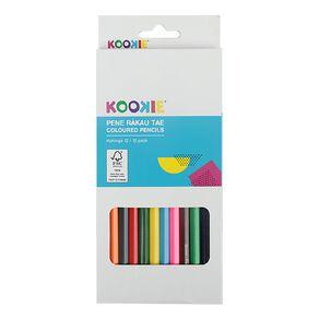 Kookie Te Reo Coloured Pencils 12 Pack