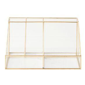 Living & Co Multi Function Glass Trnkt Holder Gold 25cm x 15cm x 13cm