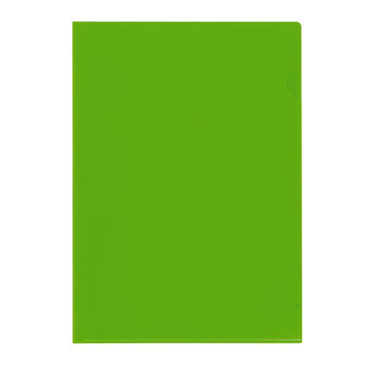 WS L-Shaped Pockets 10 Pack Green A4, , hi-res