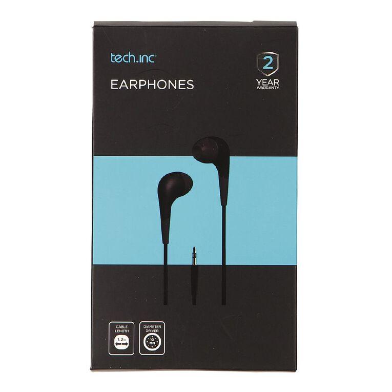Tech.Inc In-Ear Earphones Black, , hi-res