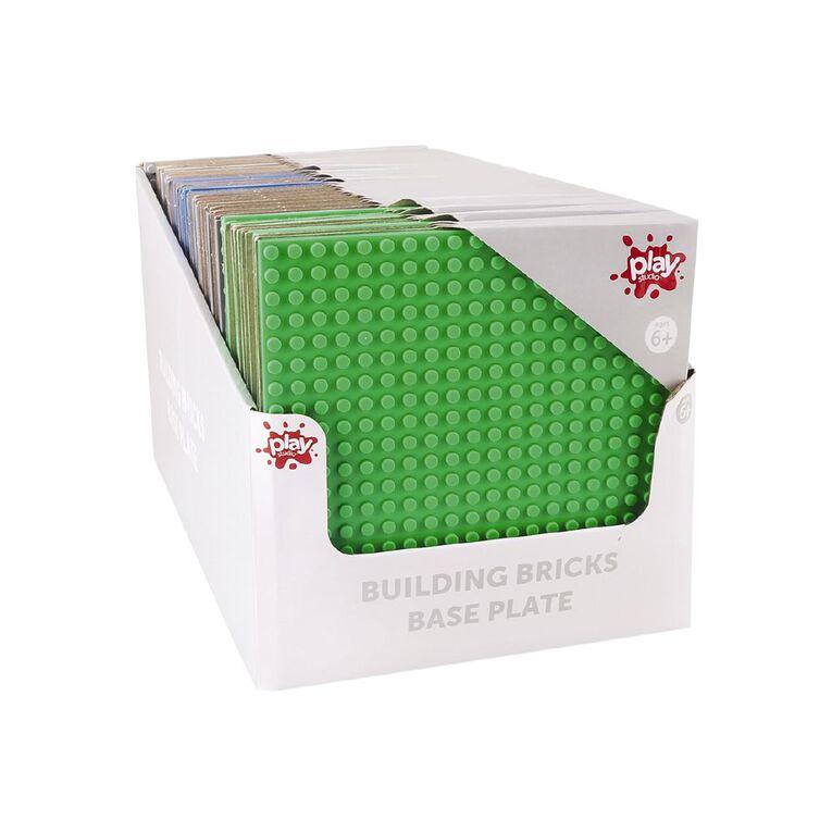 Play Studio Building Bricks Base Plate Assorted 16cm, , hi-res