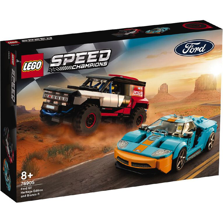LEGO Speed Champions Ford GT Heritage Edition and Bronco R 76905, , hi-res