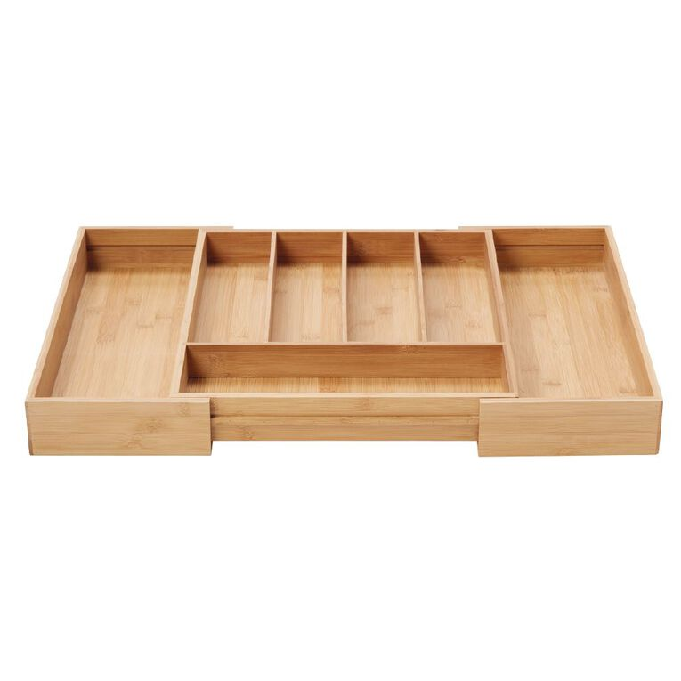 Living & Co Naturals Bamboo Expandable Cutlery Tray, , hi-res